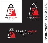 letter s and shopping bag...   Shutterstock .eps vector #1778551472