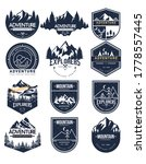 set of vector mountain and... | Shutterstock .eps vector #1778557445