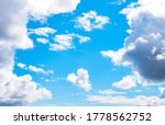 Small photo of Heart shaped cloud in a blue sky, photographed as seen, cloud shape unaltered.