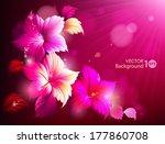 decorative floral background.... | Shutterstock .eps vector #177860708
