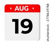 august 19   calendar icon  flat ...   Shutterstock .eps vector #1778619788