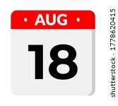 august 18   calendar icon flat...   Shutterstock .eps vector #1778620415