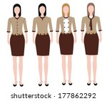 woman in uniform design  | Shutterstock .eps vector #177862292