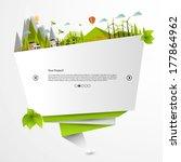 origami eco website  | Shutterstock .eps vector #177864962