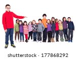 group of children holding hands ... | Shutterstock . vector #177868292