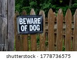 "Photograph Of A ""beware Of Dog..."