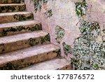 stone stairway in ancient... | Shutterstock . vector #177876572
