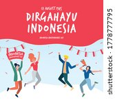 dirgahayu indonesia 17 august... | Shutterstock .eps vector #1778777795