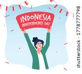 dirgahayu indonesia 17 august... | Shutterstock .eps vector #1778777798