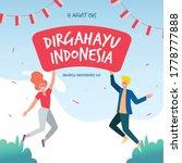 dirgahayu indonesia 17 august... | Shutterstock .eps vector #1778777888