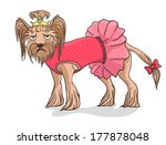 little dog not such happy as... | Shutterstock .eps vector #177878048