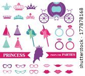 princess party set   photobooth ... | Shutterstock .eps vector #177878168