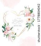 flower geometric heart line art ... | Shutterstock .eps vector #1778804042