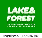vector nature emblem lake  ... | Shutterstock .eps vector #1778807402