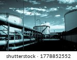 Crude Oil Tank In The Oil...