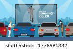 drive in car movie with... | Shutterstock .eps vector #1778961332