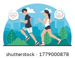 young people jogging together... | Shutterstock .eps vector #1779000878