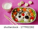 Bento In The Form Of Bears In ...