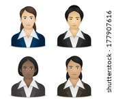 business women various... | Shutterstock .eps vector #177907616
