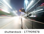 car on the road with motion... | Shutterstock . vector #177909878