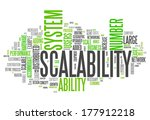 word cloud with scalability... | Shutterstock . vector #177912218