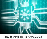 close up blue color button with ... | Shutterstock . vector #177912965
