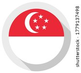 flag of singapore  round shape... | Shutterstock .eps vector #1779137498