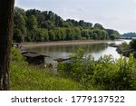 Boathouses On The Po River In...
