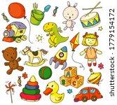 Toys Doodles. Funny Children...