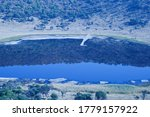 View Of Meteor Crater Lake Wit...