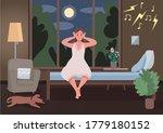 noisy neighbours flat color...   Shutterstock .eps vector #1779180152