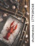 Lobster. Big Crayfish On Tha...