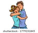 a couple hug each other. love...   Shutterstock .eps vector #1779231845