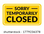 sorry temporarily closed... | Shutterstock .eps vector #1779236378