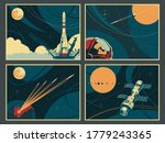 space banners  old soviet space ... | Shutterstock .eps vector #1779243365