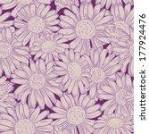 vector seamless daisy pattern.    Shutterstock .eps vector #177924476