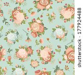 cute seamless pattern with... | Shutterstock .eps vector #177924488