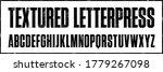 textured letterpress condensed ... | Shutterstock .eps vector #1779267098