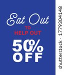 eat out to help out 50  off ... | Shutterstock .eps vector #1779304148