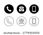 contact us icon vector.  media... | Shutterstock .eps vector #1779353555