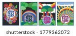 hippie art style illustrations  ... | Shutterstock .eps vector #1779362072