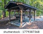 A Picnic Pavilion With A Large...