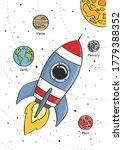 space rocket flying in space...   Shutterstock .eps vector #1779388352