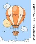 hot air balloon fly on the blue ...   Shutterstock .eps vector #1779388355