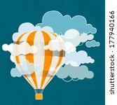 retro hot air balloon sky...   Shutterstock .eps vector #177940166