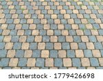 Sidewalk Tiles. Closeup Of...