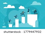 business people running to...   Shutterstock .eps vector #1779447932