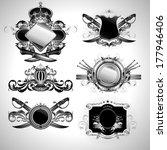 set of ornamental labels | Shutterstock .eps vector #177946406