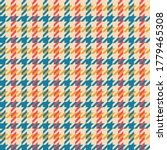 Colorful Hounds Tooth Pattern...