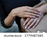 Golden Ring On A Female Hand ...